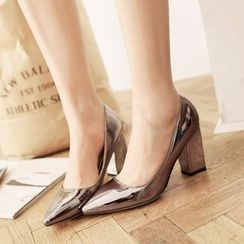 JY Shoes - Metallic Pumps