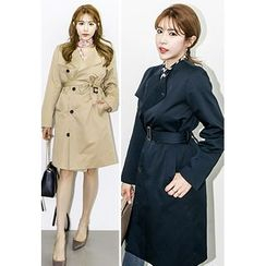 INSTYLEFIT - Flap-Front Trench Coat
