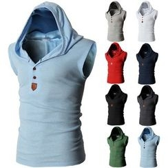 Sheck - Sleeveless Hooded Top