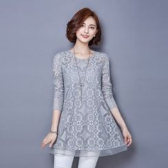 Romantica - Long-Sleeve Lace Tunic