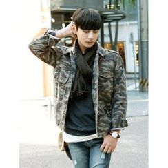 STYLEMAN - Buttoned Camouflage Jacket