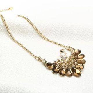 O.SA - Jeweled Peacock Necklace