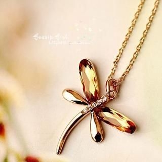 Gossip Girl - Jeweled Dragonfly Necklace
