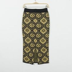 Flore - Patterned Pencil Skirt
