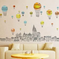 LESIGN - Hot Air Balloon Wall Sticker