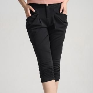 9mg - Draped-Pocket Capri Pants