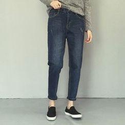 Iscat - Cropped Harem Jeans