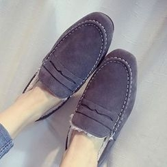 QQ Trend - Faux Fur Lined Loafers