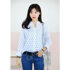 DEEPNY - Patterned Cotton Shirt