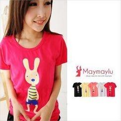 Maymaylu Dreams - Rabbit Print T-Shirt