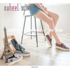 Nuheel - Star Pattern Hidden Wedge Slip-Ons