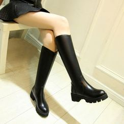 QQ Trend - 粗跟高身靴