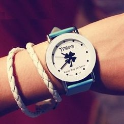YAZOLE - Clover Print Strap Watch