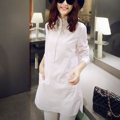 Bornite - Frill Collar Long Shirt