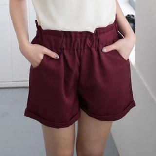 CatWorld - High-Waist Cuffed Shorts