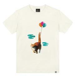 the shirts - Flying Kitty Print T-Shirt
