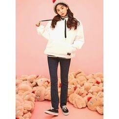 icecream12 - Fleece-Lined Boot-Cut Jeans
