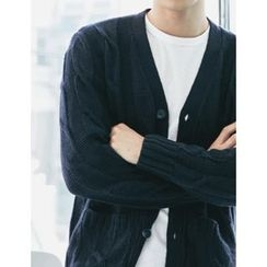 STYLEMAN - Wool Cable-Knit Cardigan