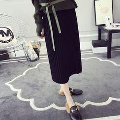 efolin - Pleated Midi Skirt