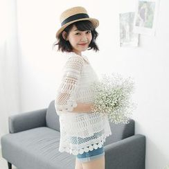 Tokyo Fashion - 3/4-Sleeve Lace Top