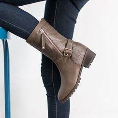 VIVIER - Belted-Detail Faux-Fur Boots