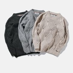 Mrlin - Open-Knit Sweater