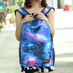Bagolo - Galaxy Print Nylon Backpack