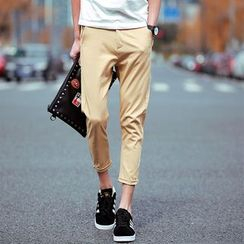 Bay Go Mall - Cropped Chino Pants