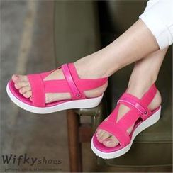 Wifky - 插色扣帶涼鞋