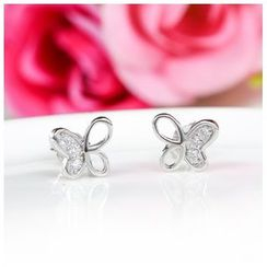 Zundiao - Sterling Silver Butterfly Studs