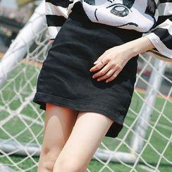 Wimi girls - Slit Side Denim Skirt
