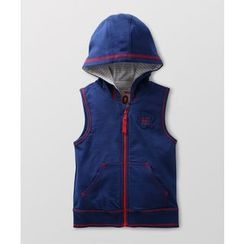malimarihome - Baby Applique Hooded Zip Vest