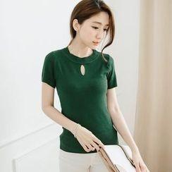 Tokyo Fashion - Short-Sleeve Cutout-Front Top
