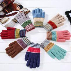 Ciroki - Patterned Knit Gloves