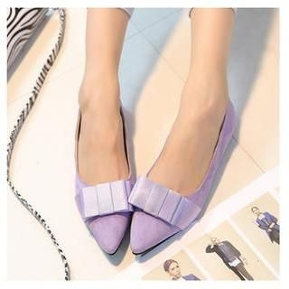 QQ Trend - Bow Accent Pointy Flats