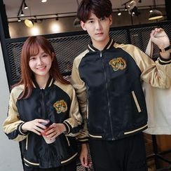 Sienne - Couple Matching Embroidered Zip Jacket
