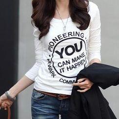 Ringnor - Long-Sleeved Print T-Shirt