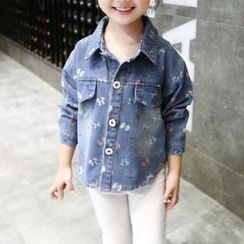 Matatabi - Kids Washed Printed Denim Jacket