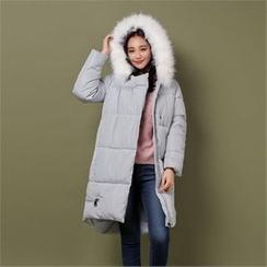 Styleberry - Hidden-Heel Fleece-Lined Slip-Ons