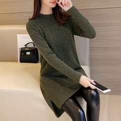 Ageha - 珠饰针织裙衣
