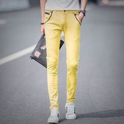 Breeson - Plain Straight-Cut Pants