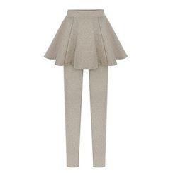 Sugar Town - Legging Inset A-Line Skirt