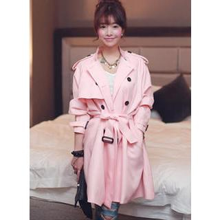 HOTPING - Dolman-Sleeve Trench Coat