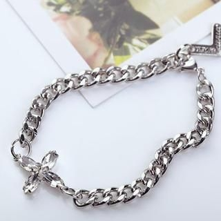 Cuteberry - Rhinestone Chain Bracelet