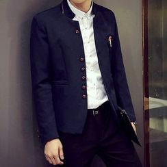 Fisen - Panel Mandarin Collar Blazer