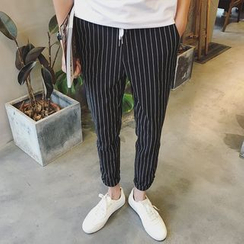 NAPO - Striped Straight Fit Pants