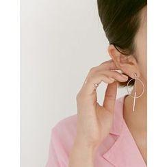FROMBEGINNING - Double Side Drop Earrings