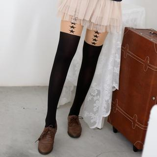 59 Seconds - Star Print Two-Tone Tights