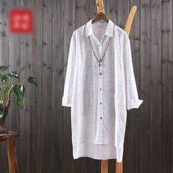 aerokiss - 印花长款衬衫