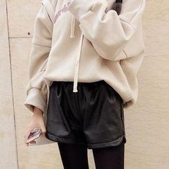 Fancy Show - Faux-Leather Shorts